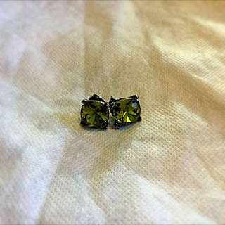 Mimco Olive Crystal Earrings