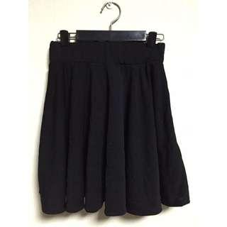 蜜桃絨 黑色短裙