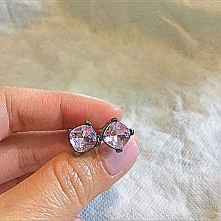 Mimco Lilac Crystal Earrings