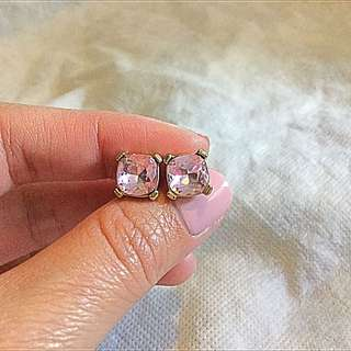 Mimco Pink Crystal Earrings