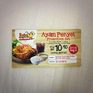 Ayam Penyet Promotion Set