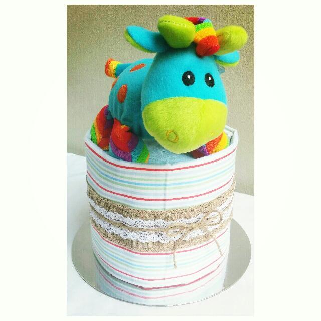 1-Tier Mini Nappy Cake Design