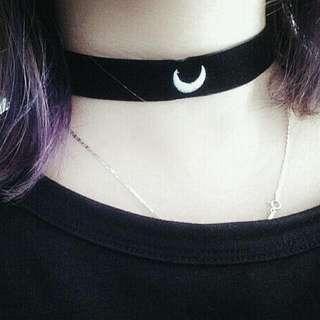 【全新】 暗黑 女孩 月亮 頸鏈