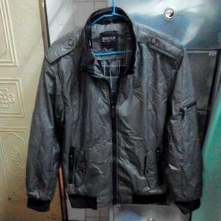 [全新] 深灰色 立領夾克 防風外套