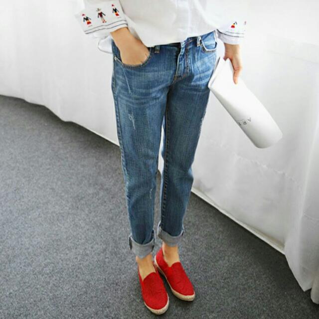 寬鬆哈倫牛仔褲(共2色)