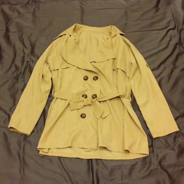 春天熱賣款長版風衣外套#300以下外套