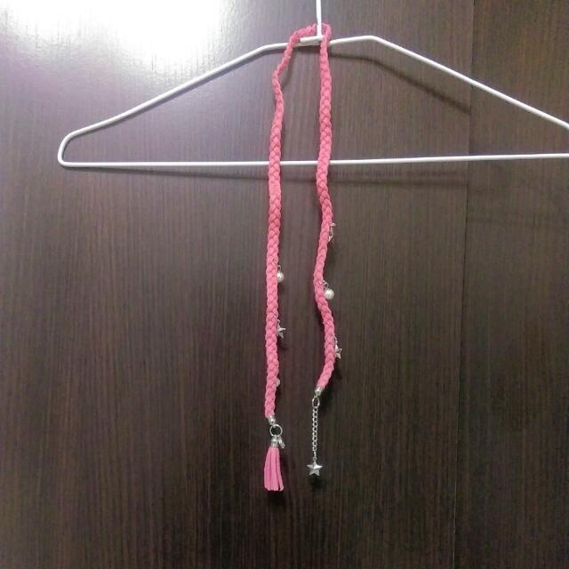 (郵寄掛號含運)粉紅長鍊