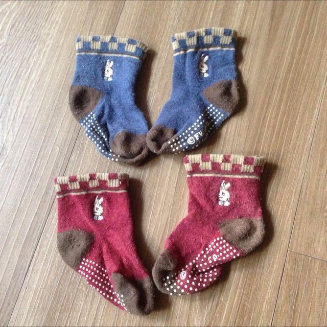 二手/奇哥專櫃彼得兔寶寶襪二雙