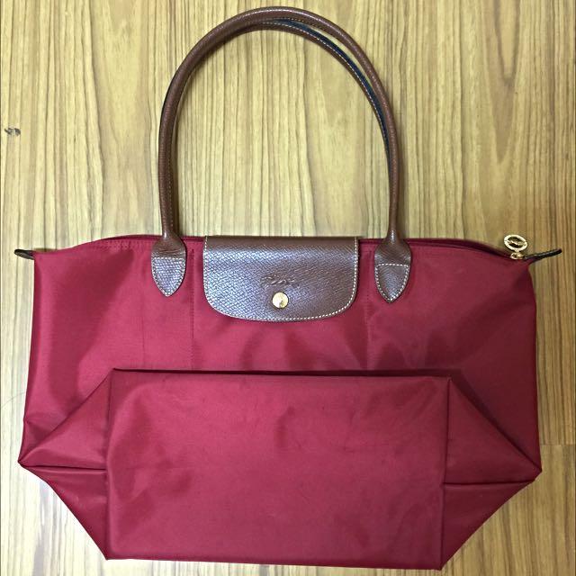 紅色長柄 Longchamp 香港帶回 正品 9成新(含運)
