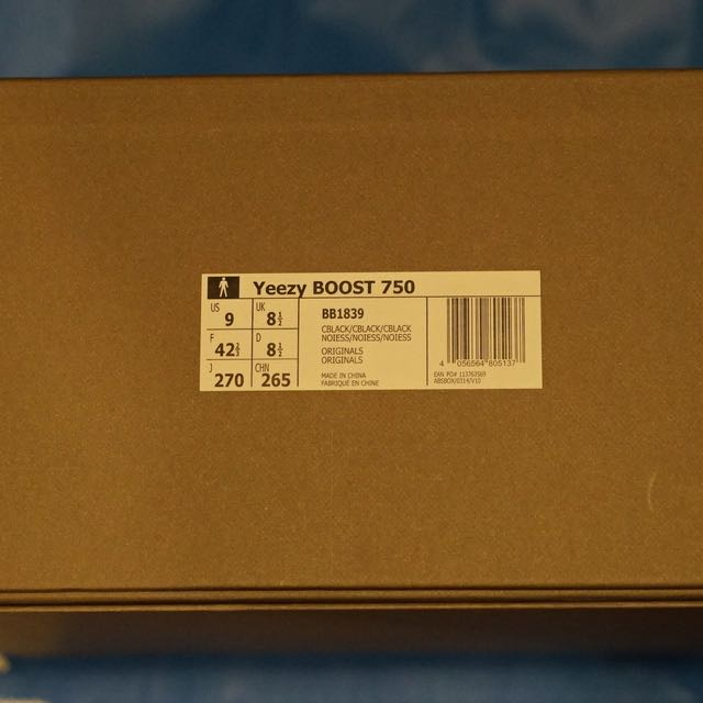 2a695d39e3e7c Adidas Kanye West Yeezy Boost 750 Black New Original Boxed And Untried Us9