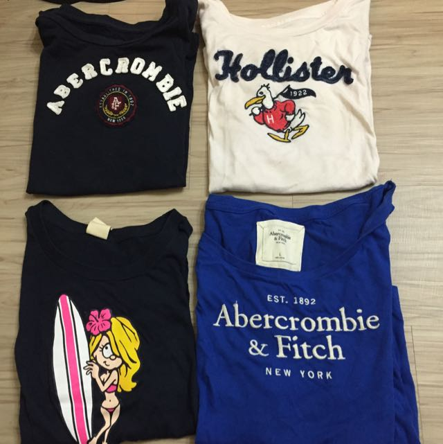 二手正品/A&F Abercrombie&fitch Hollister 歐美 美國 Tee T-shirt 緊身