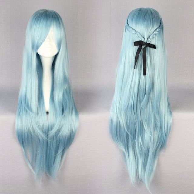 Arctic Princess // Solid Baby Ocean Powder Blue 85cm Wavy Hair Wig