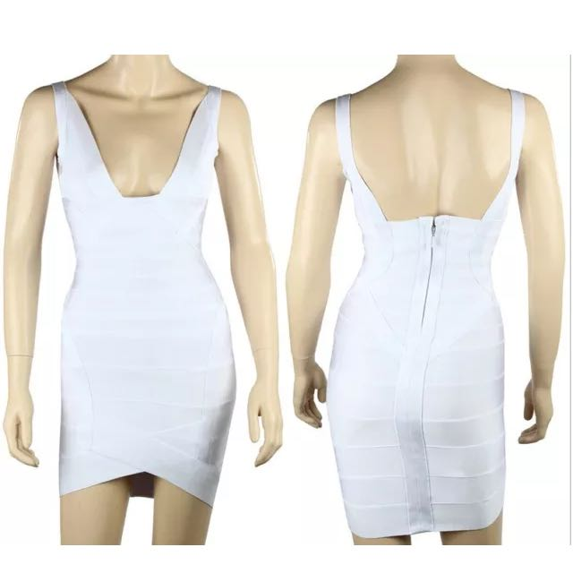 Bandage V-neck Dress