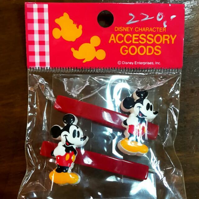 (全新)正版Disney米奇米妮髮夾