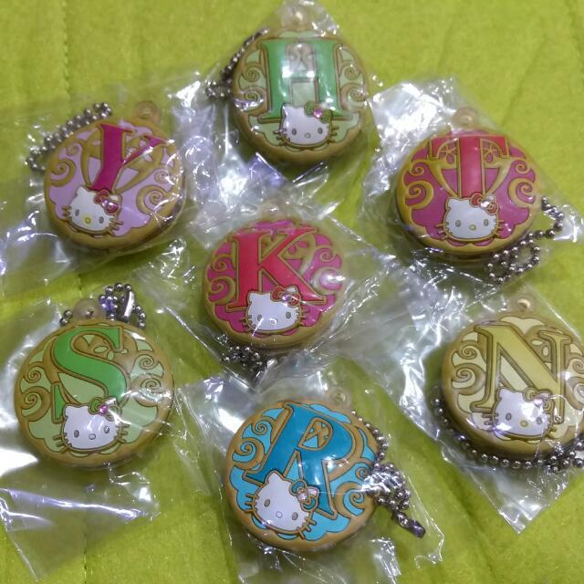 Hello Kitty-小鑽字母鑰匙套