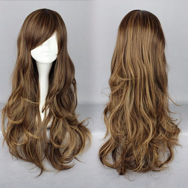 Legally Bronde // Blonde Brunette Brown 75cm Wavy Hair Wig