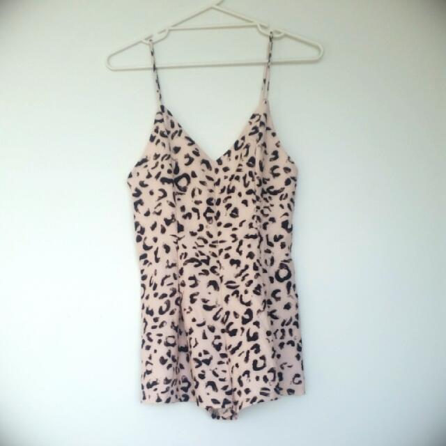 Low Back Leopard print Jumpsuit