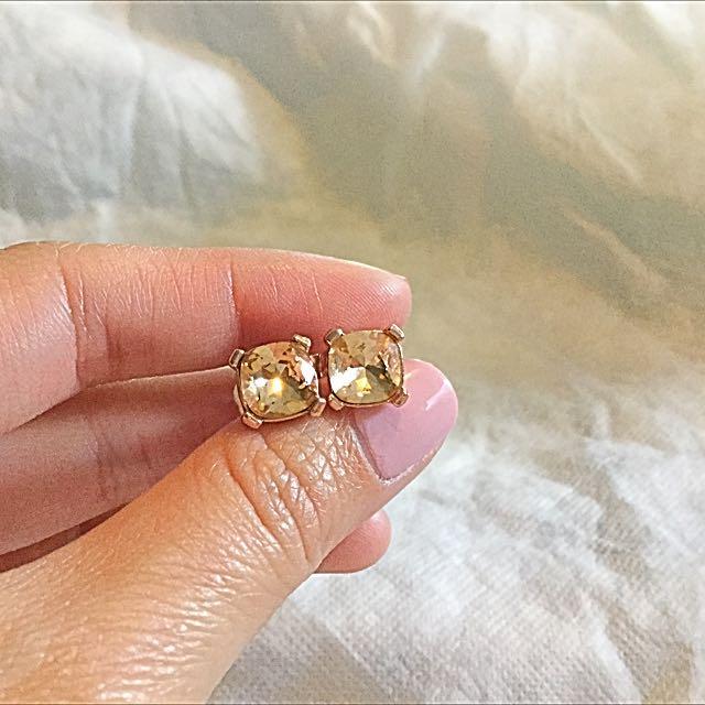 Mimco Peach Crystal Earrings