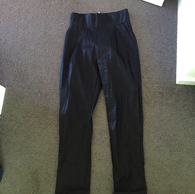 Mossman High Waisted High Shine Pants