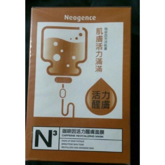Neogence霓淨思咖啡因活力醒膚面膜30ml 10片, 有效期限2017.4