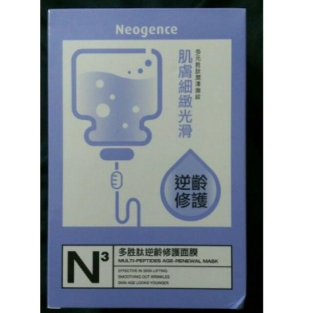 Neogence霓淨思 多胜肰逆齡修護面膜30ml 10片, 有效期限2018.8.5