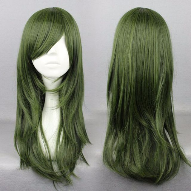 Olive Girl // Solid Army Green 65cm Wavy Hair Wig
