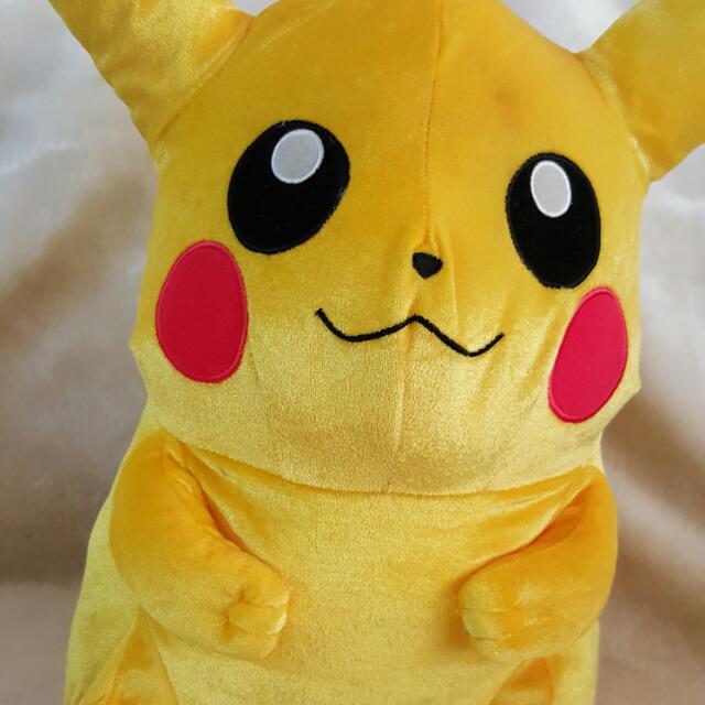 pokemon fat banpresto shimmery pikachu plush toy toys games on