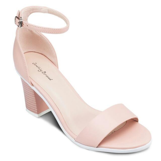 4744b3a652e (size 38) Blush Chunky Heel Sandal