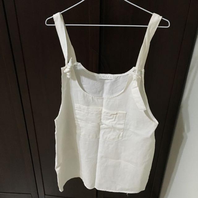 Queen Shop 白色吊帶裙