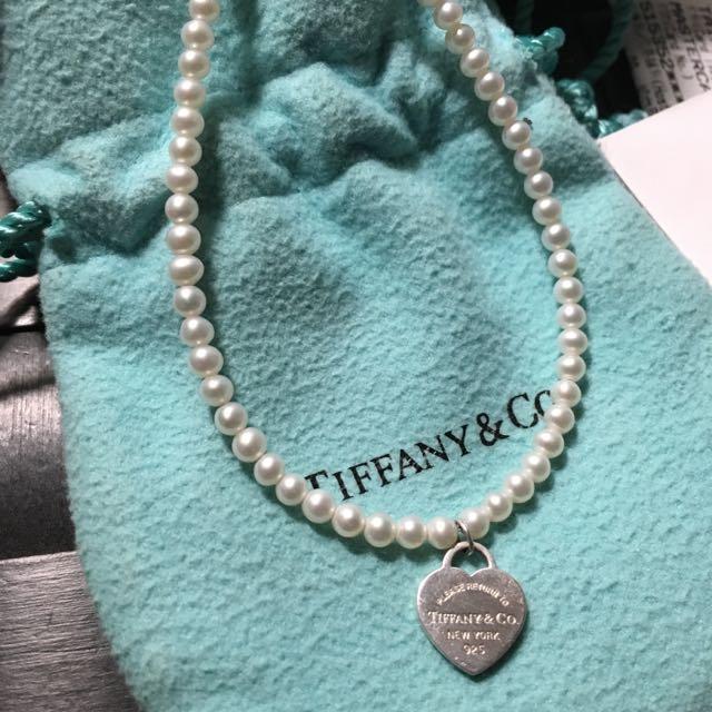Tiffany&Co 愛心牌珍珠手鏈
