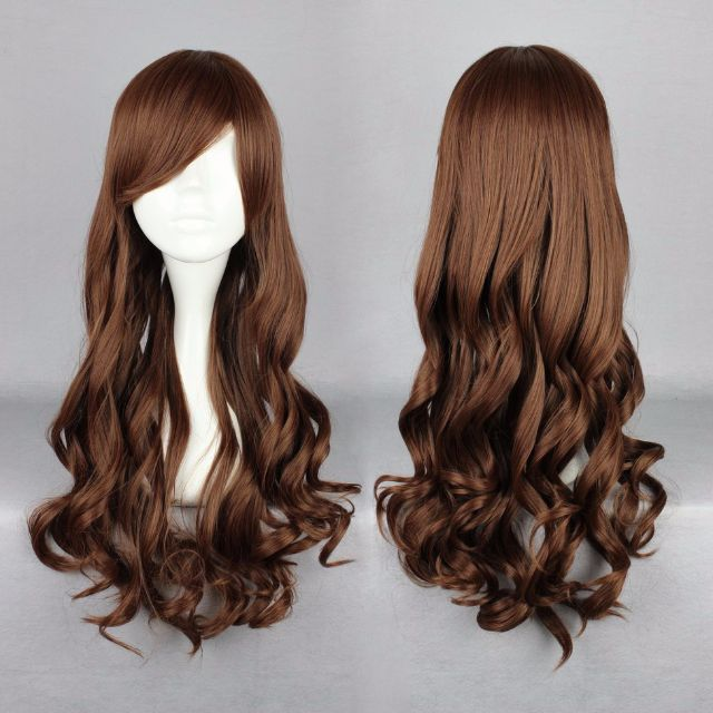 Truffle Chocolate Love // Auburn Brown Effect 70cm Wavy Hair Wig