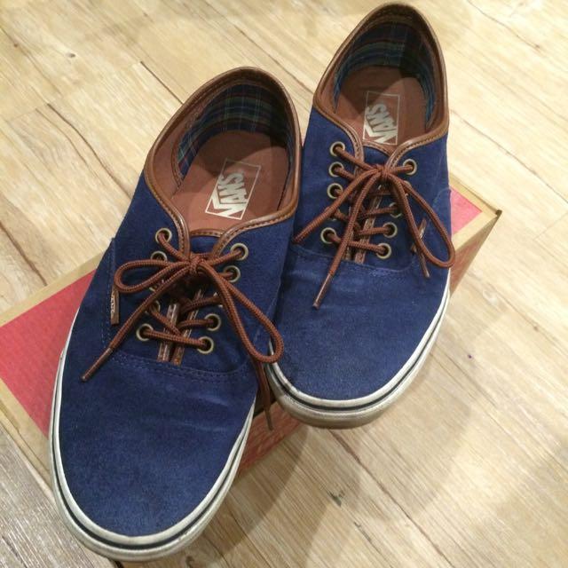 Vans基本款 深藍咖啡配色 布鞋 板鞋