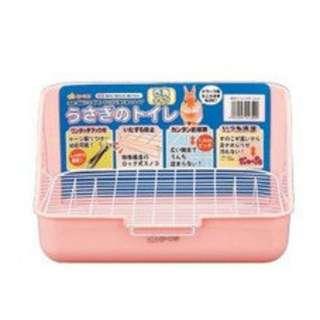 GEX 方形兔子便盆 粉紅色 兔便盆 兔廁所