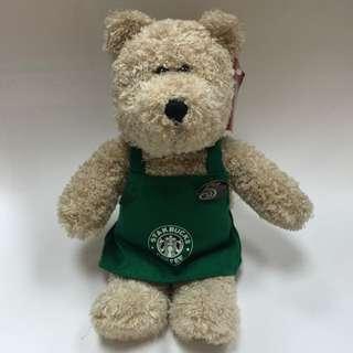 Starbucks星巴克5週年綠圍裙熊-2003年