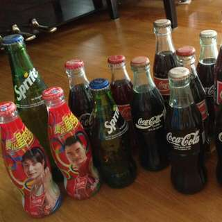 SOLD 2 RED. Retro Collection Coke And Sprite Bottles
