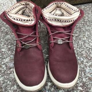 Timberland酒紅限量靴 25 40