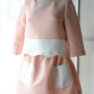 全新七分袖裙子套裝L號