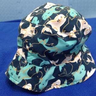 雙面戴鯊魚圖案漁夫帽 12-24M幼童