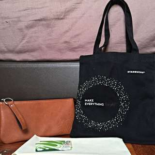 Starbucks Tote Bag and Pouch