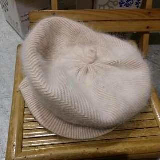 粉裸色貝蕾帽