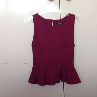 Maxim Peplum Top