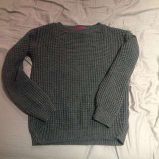 Thick Grey Boohoo Knit Jumper