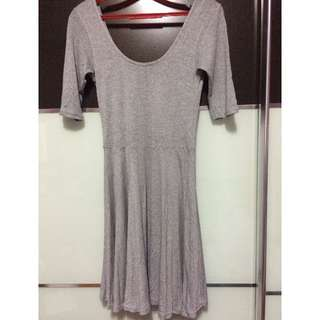 New Look Grey Fit and Flare Dress