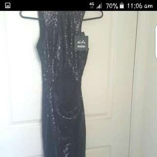 Miss guided Sequin Slit Dress