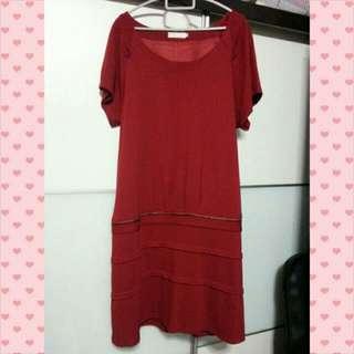 Red Plus Size VIVI Dress