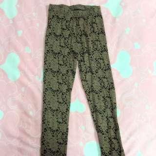 深褐色簍空蕾絲🌬內搭褲
