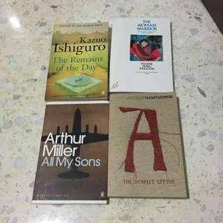 A Levels Literature Texts (H1/H2)
