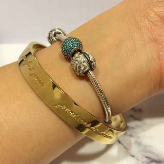 Kate spade New York -'best friend ever' bridesmaid bangle 悄悄話手環