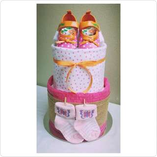 "2-Tier ""Mummy's Little Girl"" Nappy Cake Design"
