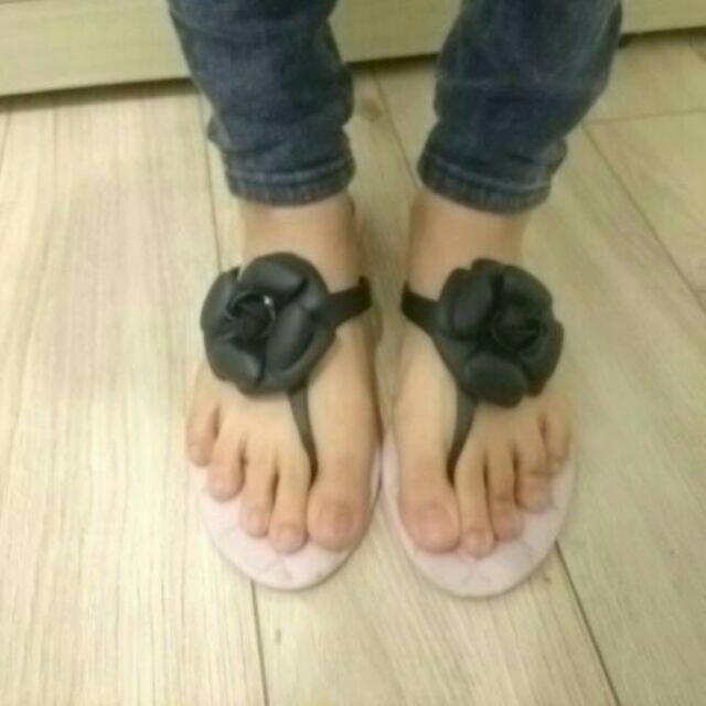 九成新-紫色涼鞋(尺寸36)
